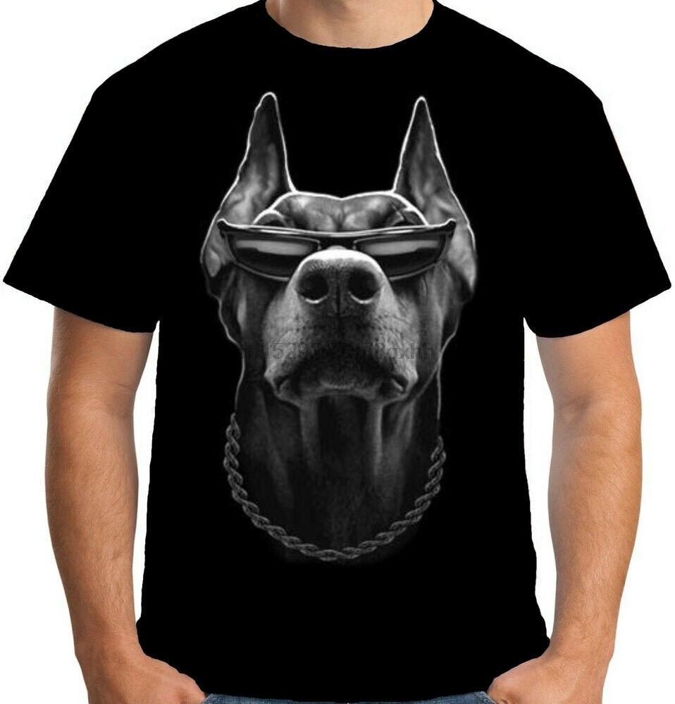 Velocitee masculino camiseta legal doberman gangster máfia mob bandido cão motociclista a15047