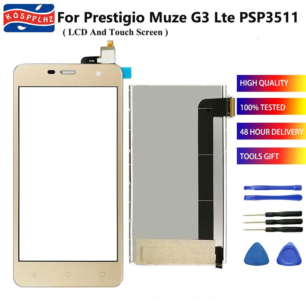 Para Prestigio Muze G3 Lte PSP3511 PSP 3511 Duo PSP3511DUO pantalla táctil LCD Sensor digitalizador reemplazo + herramientas + adhesivo