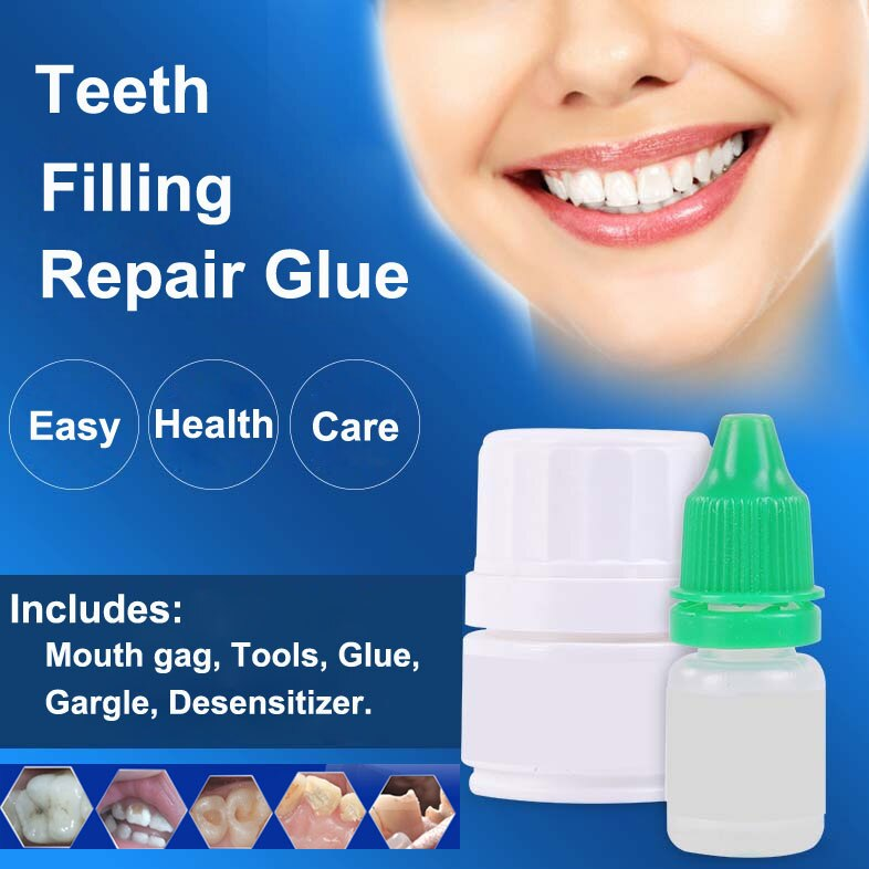 Living Tooth Injury Filling Glue Teeth Hole Oral Mouth Cavity Caries Tool Care Doctor Material Acces