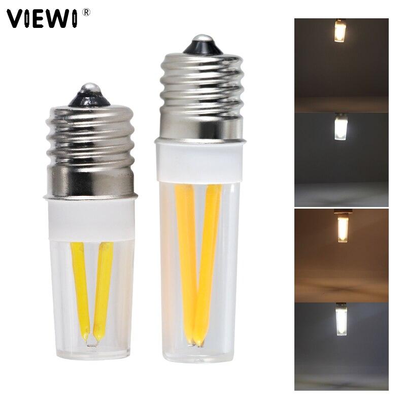Bombilla e17 bombilla de filamento led luz 2W 3W super COB mini vela regulable luces 110v 220v dimmer de iluminación tipo concha lámpara