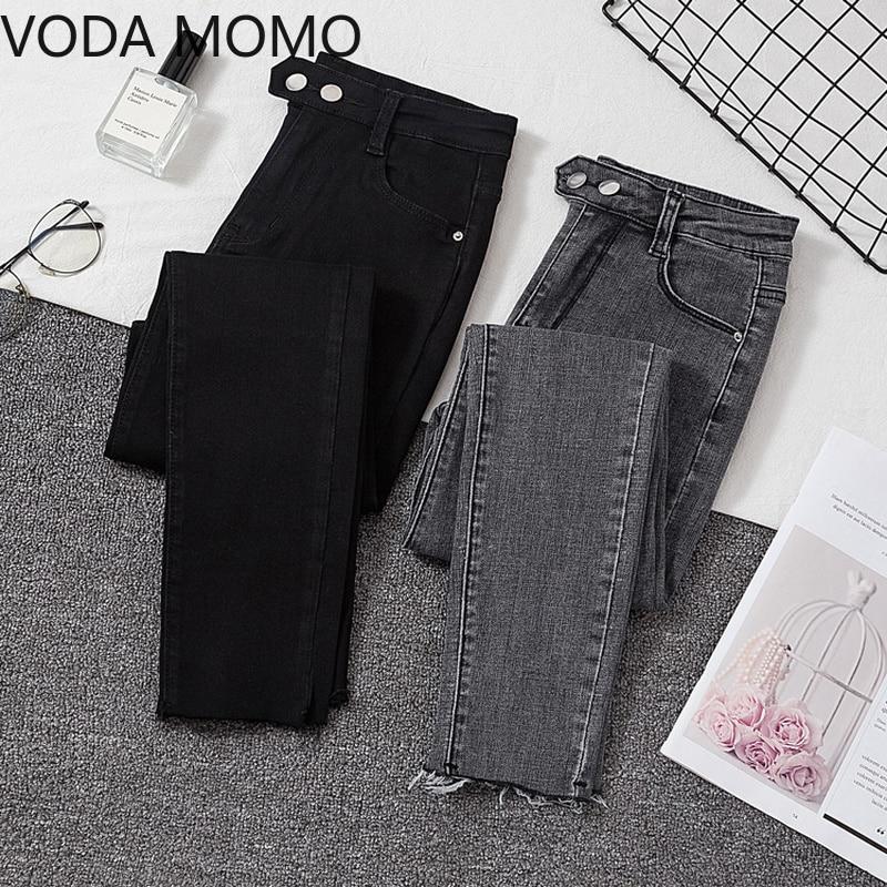 Plus size Jeans Female Denim Pants Black Womens Jeans woman Donna Stretch Bottoms Feminino Skinny Pa