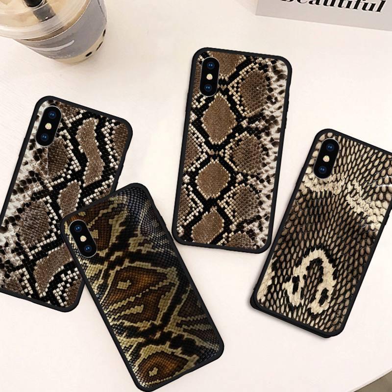 Pele de cobra animal viper python caso de telefone para iphone 11 12 pro xs max 8 7 6s plus x 5S se 2020 xr