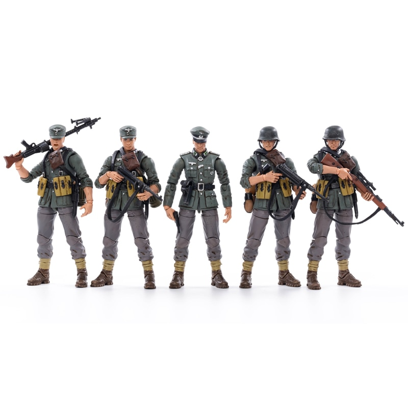 JOYTOY 1/18 Action WWII Germany Mountain Division Soldier Figures (5PCS/Set) Collectible Toy Military Model Gift 100pcs high soldier model military sandbox game plastic toy soldier army men figures for children s toy dolls gift