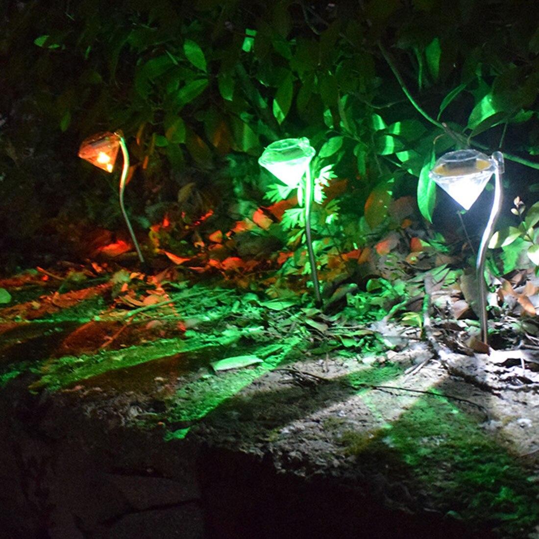 Outdoor Solar Lawn Light Waterproof Spotlight Garden Channel stainless Steel Solar Landscape Lighting