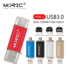 Tipo de alta velocidade c usb 3.0 flash drives pendrive usb chave 64 gb 32 gb 16 gb 128 gb caneta driver personalizado clef usb3.0 memória flash