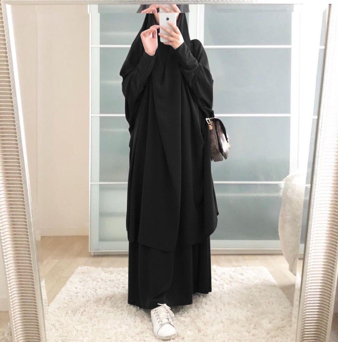 Ramadan Abaya Muslim Sets Turkey Abayas for Women Dubai Prayer Dress Eid Mubarak Islam Clothing Musulman Conjuntos Khimar Niqab