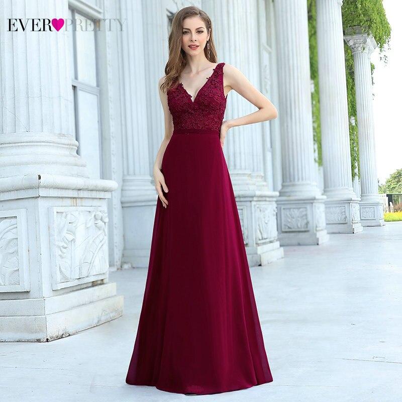 Vestidos de Noche elegantes de corte A, vestido largo Formal de Chifón con apliques de cuello de pico profundo, vestidos de fiesta de boda, vestido de Sukienki Wizytowe