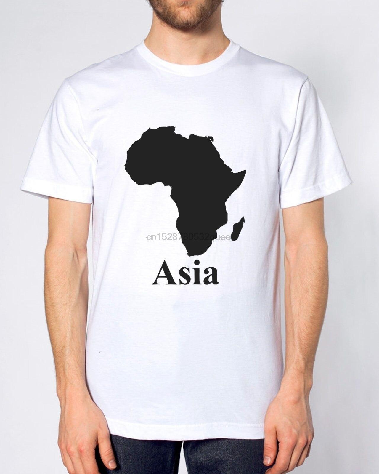 Camiseta África Asia divertida parodia mapa hombres mujeres niños Cool Casual Pride camiseta hombres Unisex nueva moda camiseta divertida Tops