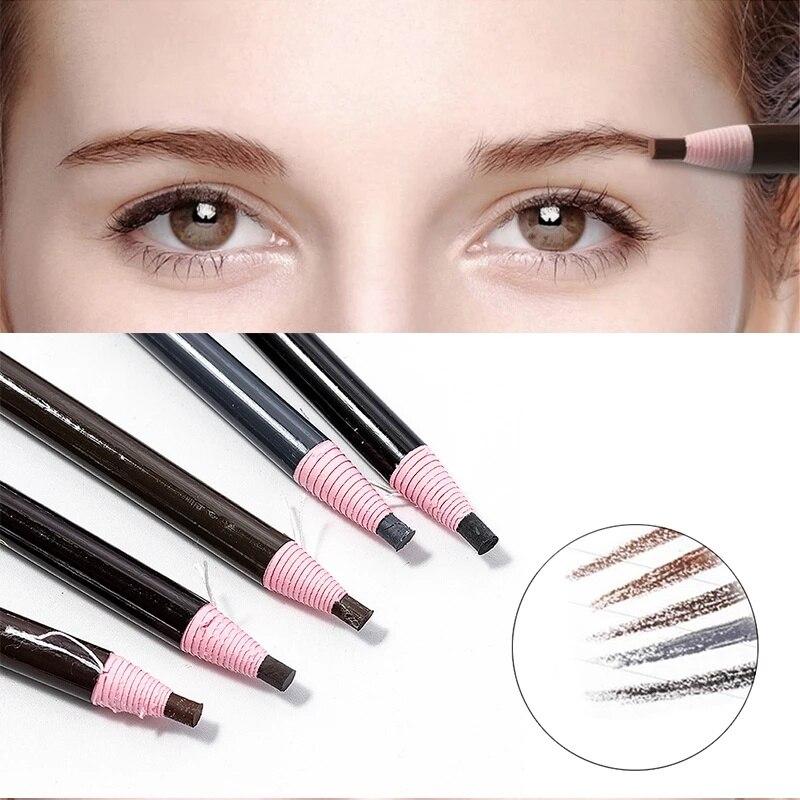 Eyebrow Pencil Tattoo Pen Brow Enhancer Brow Tint Natural Long-Lasting Waterproof Easy Wear Women Be