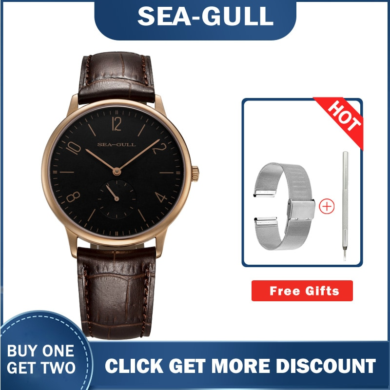Seagull watches 519.612 Ultra Thin 8mm Hand Wind Men's Watches high quality top brand wrist watch for men enlarge