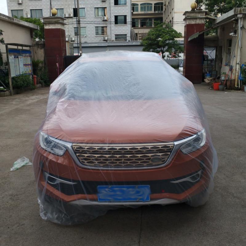 Car Waterproof and Dustproof Universal PE Car Cover Disposable Pastic Car Cover