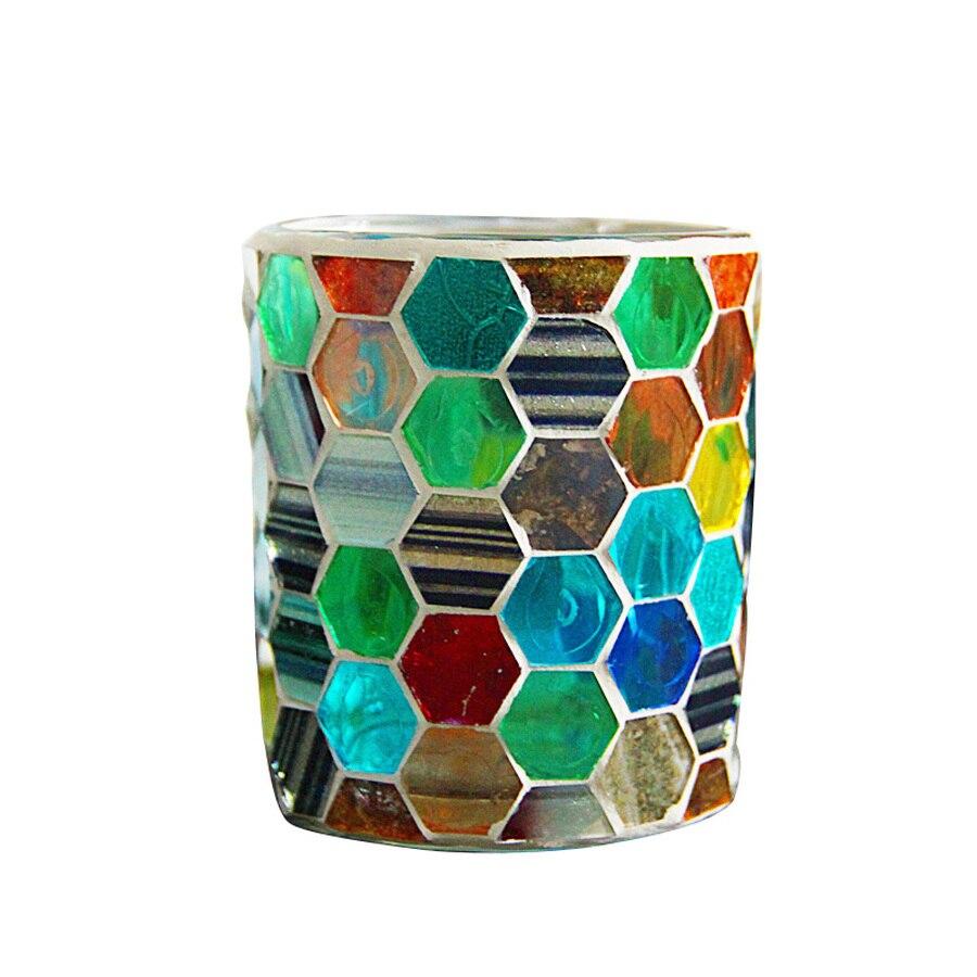 Candelabro De cristal De mosaico para decoración, candelabro De Centro De Mesa...