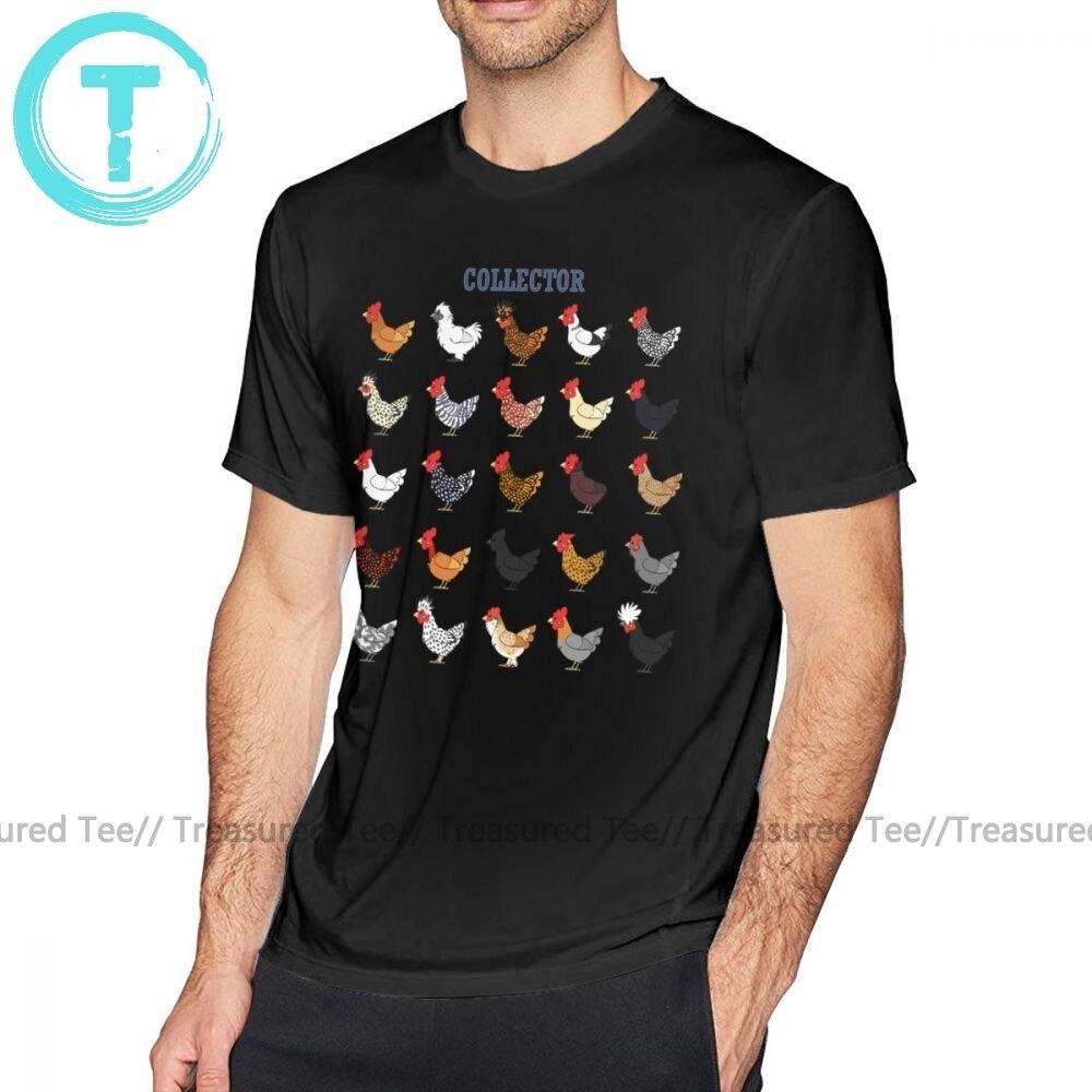 Farmer, camiseta de coleccionista de pollos, para hombre, 5x, camiseta bonita de manga corta, Camiseta estampada de moda 100 por ciento de algodón