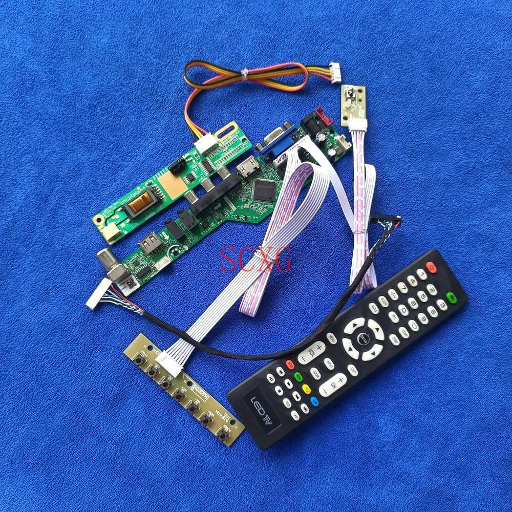 20-Pin LVDS HDMI-متوافق USB VGA لوحة تحكم لوحة للقيادة صالح B121EW01/B121EW02/B121EW03 1CCFL التناظرية إشارة Kit1280 * 800