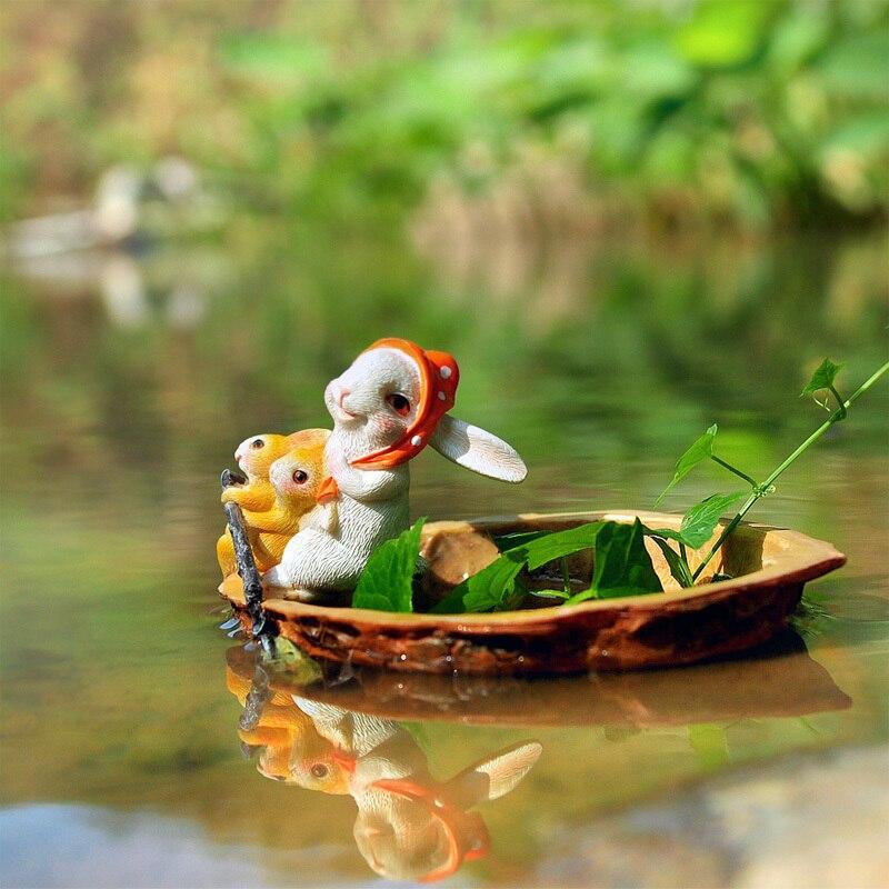 أرنب القوارب المنزل مكتب عمل فني الذاتي سقي المياه ثقافة الصخور الزهرية حديقة حوض السمك ملحقات للتزيين اناء للزهور