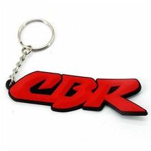 Rubber Motorcycle Ring Key Chain cool keychain 3D Soft For Honda CBR 125 250 300 600 900 954 1000 CBR1000RR CBR600RR CBR300RR