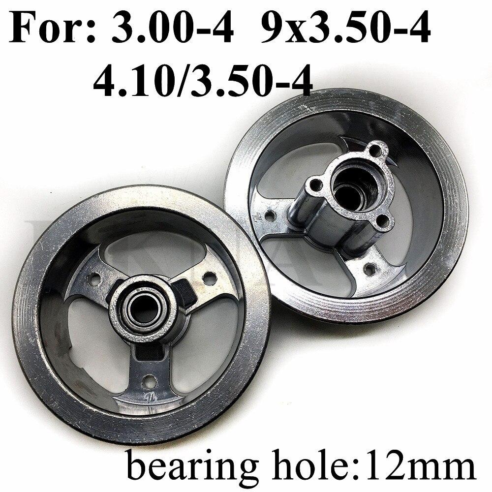 Novo 4 Polegada 3.00-4 aro da roda 4.10/3.50-4 9x3.50-4 cubo da liga de alumínio para o mini scooter elétrico atv do gás da motocicleta