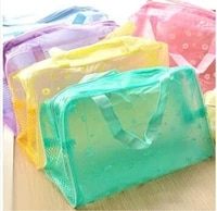 Sac de rangement de cosmetiques en PVC etanche  5 couleurs  transparent  pochette de maquillage  compression  sacs de bain de voyage pour femmes  2020