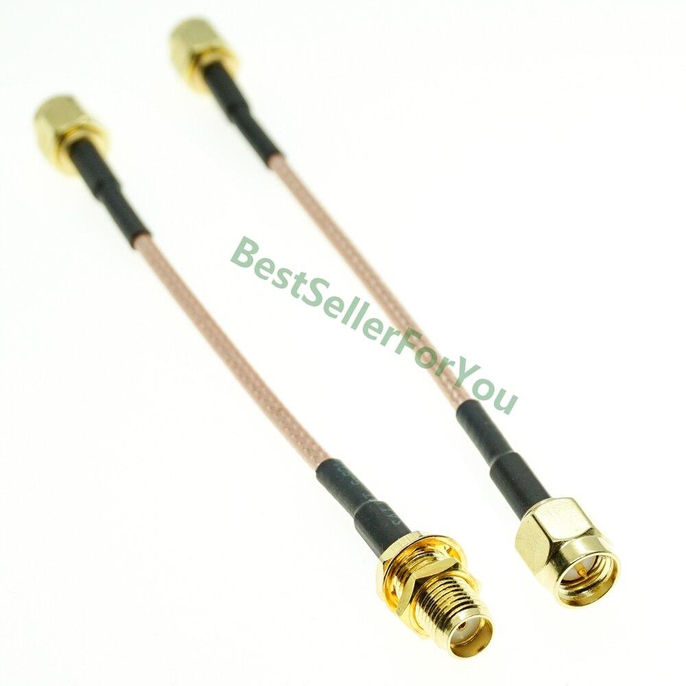 10/15/30/50/100/200cm SMA macho a SMA macho hembra tuerca mamparo RG316 extensión coaxial Cable jumper Pigtail