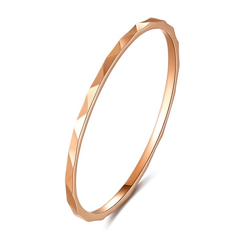 خاتم نسائي من الذهب الوردي عيار 18 قيراطًا AU750 ، خاتم صغير ، عرض خاص