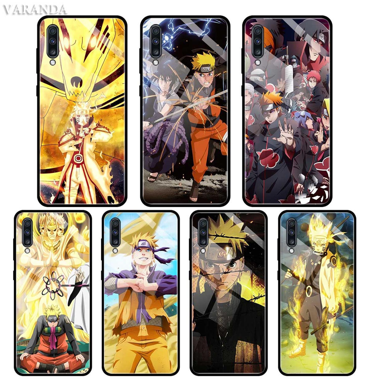 Naruto Anime caso para Samsung A50 A40 A70 A71 A51 A30 A10 A10S A20S M30S J4 J6 Plus de templado de vidrio de cubierta del teléfono
