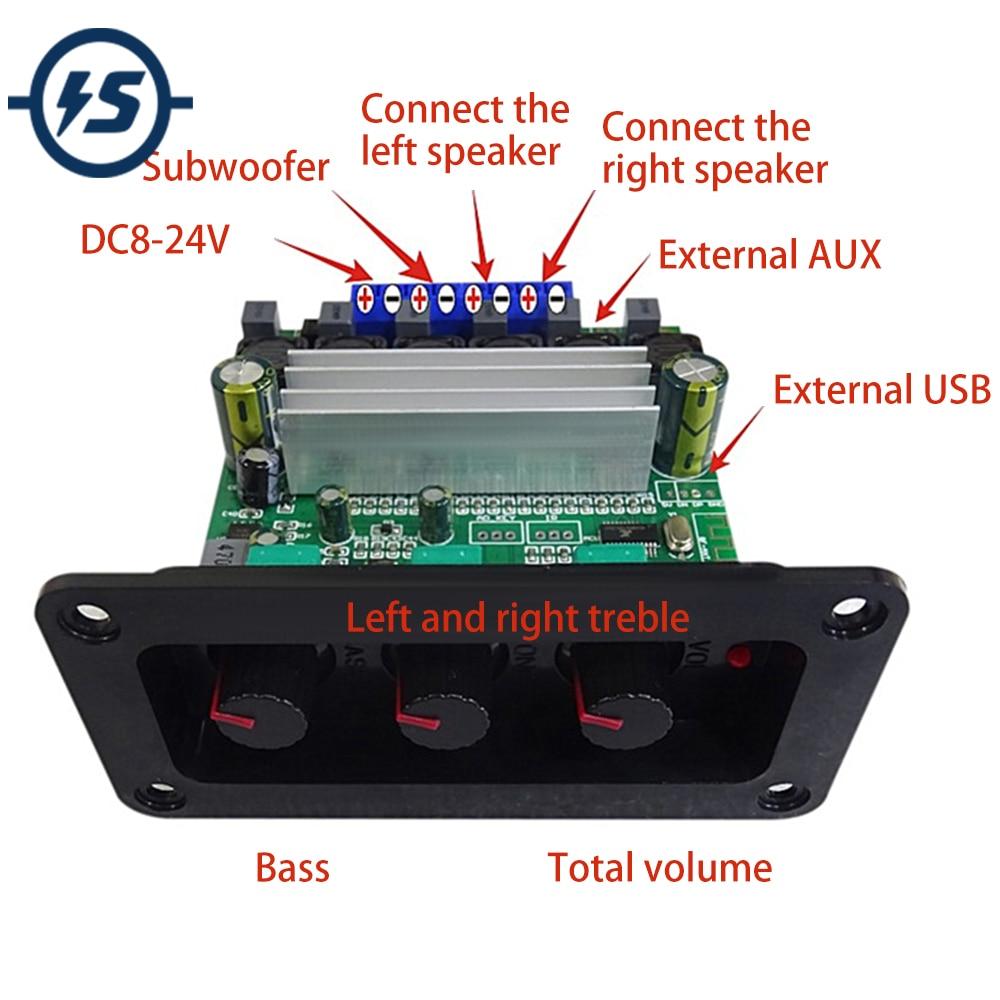 TPA3118 بلوتوث 5.0 مكبر كهربائي مجلس 30 واط * 2 + 60 واط مضخم صوت الصوت مجلس الصوت الرقمي المنزل لتقوم بها بنفسك عالية الدقة 2.1 تيار مستمر 8 فولت-24 فولت