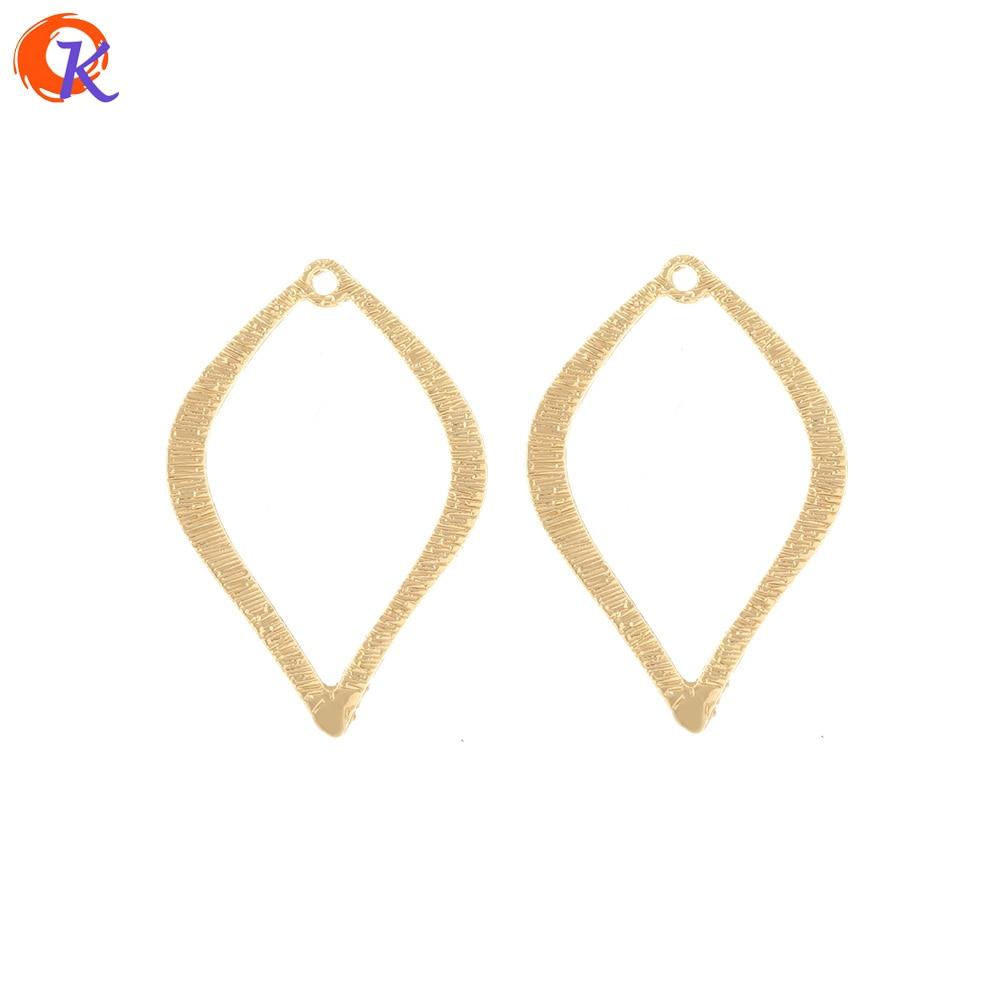 Design cordial 100 peças 23*35mm acessórios de jóias/brincos conectores/laço gota/diy fazendo/feito à mão/encantos/brinco achados