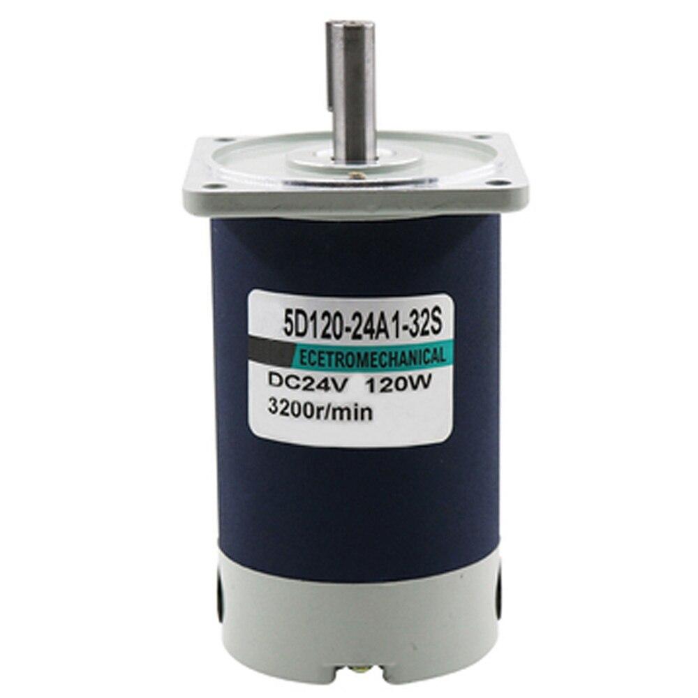 120W eléctrico Micro DC motores de alta velocidad 12V 24V 1800/3000RPM larga vida ajustable velocidad Reversible DC Motor de imán permanente