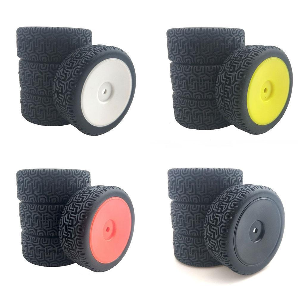 Фото - 4pcs RC Car 66mm Rubber Tires For 144001 And 1/18 1/16 1/10 RC Crawler On/Off Road Car Spare Parts Replacements 4pcs 1 64 modified wheels rubber tires with axles and end cap upgrade parts for rc model car