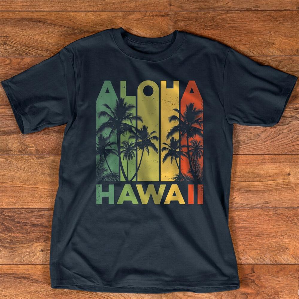 Aloha Hawaii isla hawaiana camiseta hombres mujeres Vintage 1980s Throwback de talla grande ropa camiseta