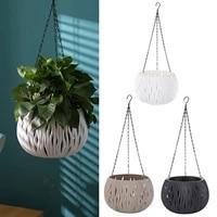 hanging baskets plant hanger flowerpot hollow hanging planter garden hanging basket plant pot with chain