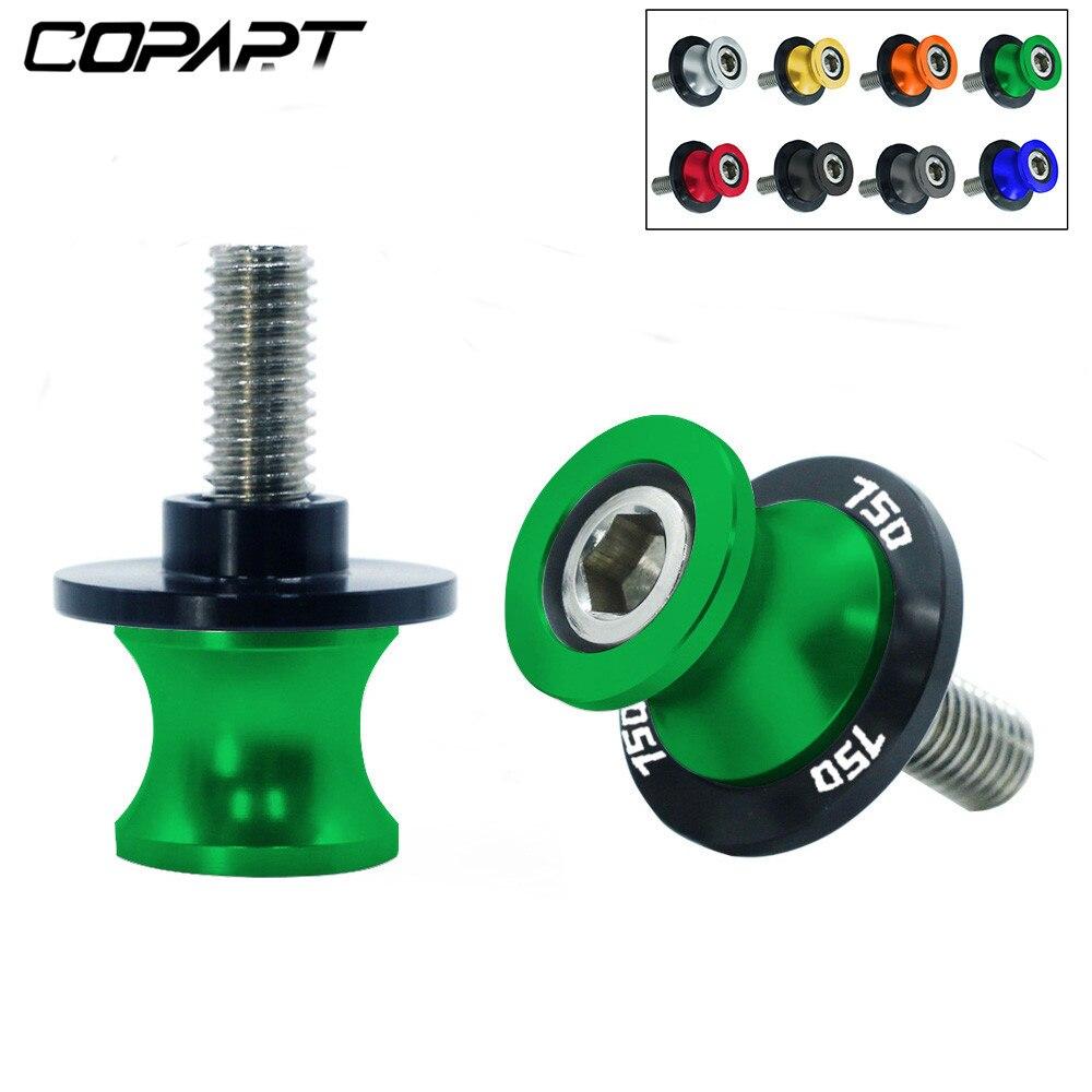 2 uds., 10MM, basculante para motocicleta, bobinas deslizantes, CNC de soporte de brazo oscilante, tornillo Paddock para Kawasaki Z750 Z 750 2007-2011