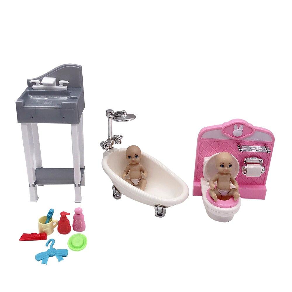 2020 Latest Fashion Barbies Princess Doll Accessories Baby Bathroom Bath Series Plastic Children Girl Play House Toys