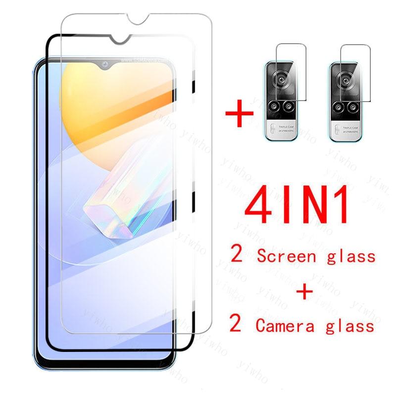 4in1 Protective Glass on Vivo Y31 Screen Protectors Tempered Glass for VivoY31 Vi vo Y 31 31Y 6.58