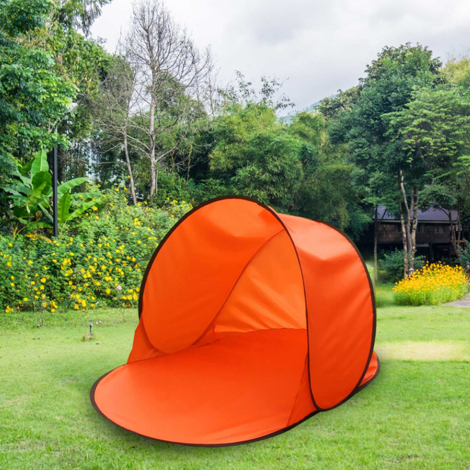 Leisure Tent Automatically Open Single Layer Sun Protection Camping Tent For Beaches Camping Hiking