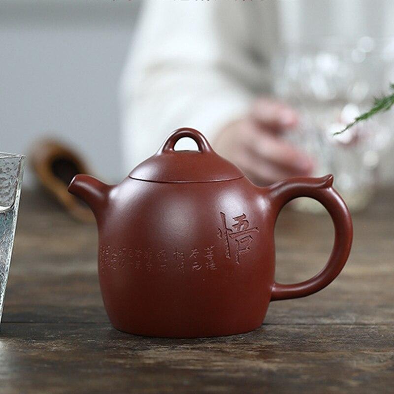 Yixing-إبريق شاي كونغ فو مشهور ، مصنوع يدويًا ، وعاء 330 مللي ، طين ، Dahongpao