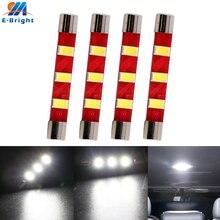 Ampoules Led DC12V 4X T6   Type de Base, 28mm 31mm 36mm 39mm 41mm 12V, 5730 3 SMD, lumière de dôme, Pate nombre, lampe de lecture, plafonnier