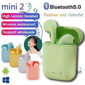 Bluetooth Earphones Mini-2 Waterproof Sport Earbuds For all phones Headset PK i7s i12 i9s tws Wireless Earphones