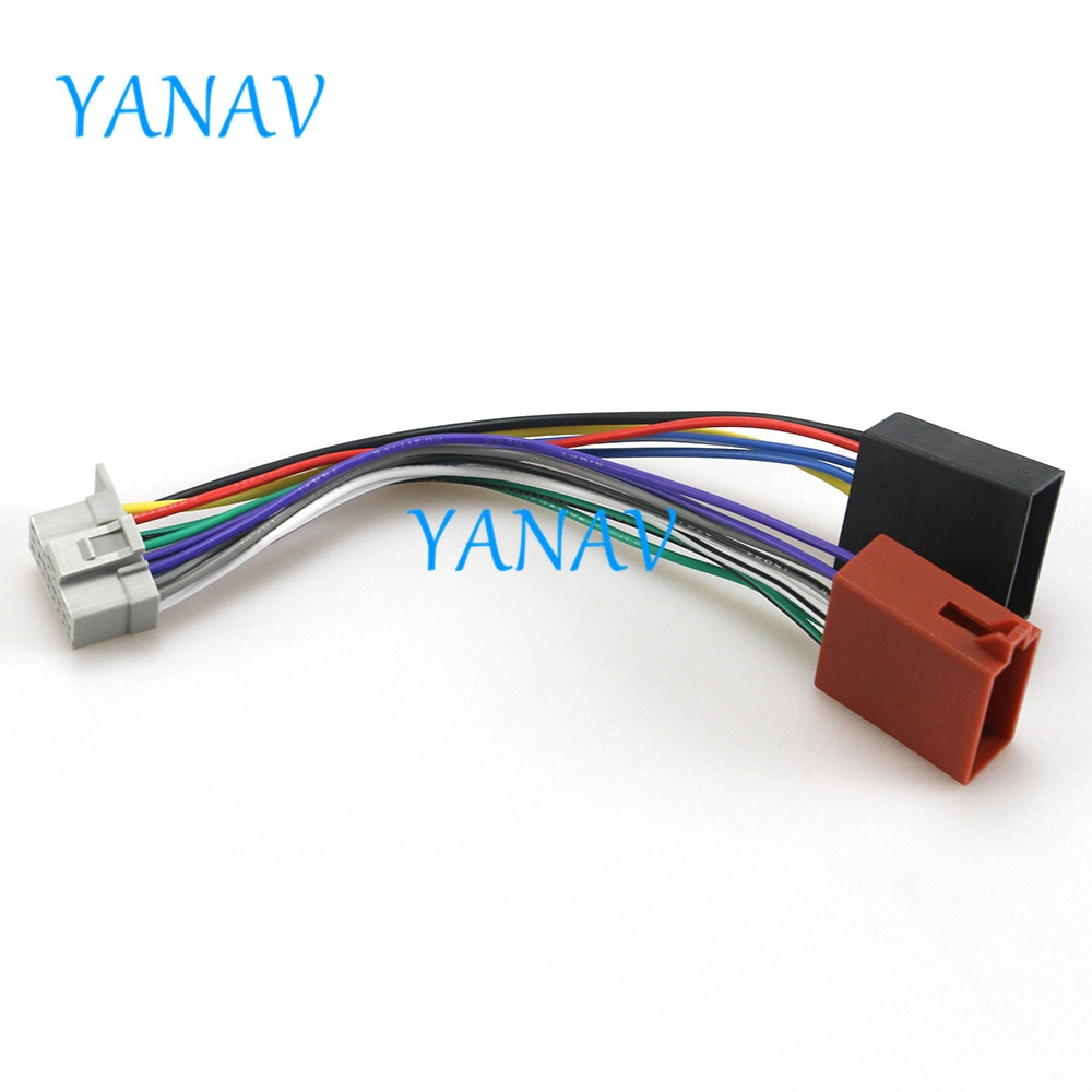 15-105 Cable de cabeza de arnés ISO para coche-PANASONIC CQ adaptador de Cable de Radio Estéreo enchufe conector de cableado CableCar Radio Estéreo ISO Sta