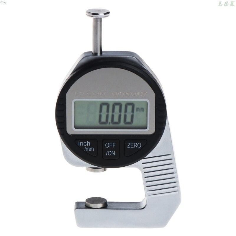"""Medidor de espesor Digital 0-12,7mm/0,01mm 0,5 """"/0,0005"""" herramienta de medición electrónica L29K"""