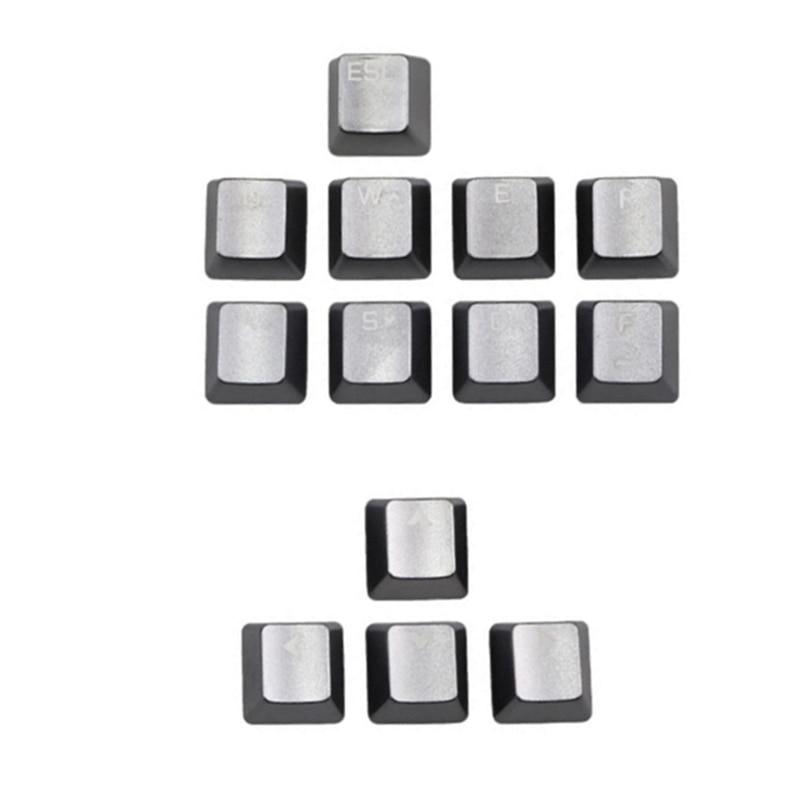 أغطية مفاتيح معدنية من سبائك الألومنيوم للمفاتيح الميكانيكية ، 13 قطعة