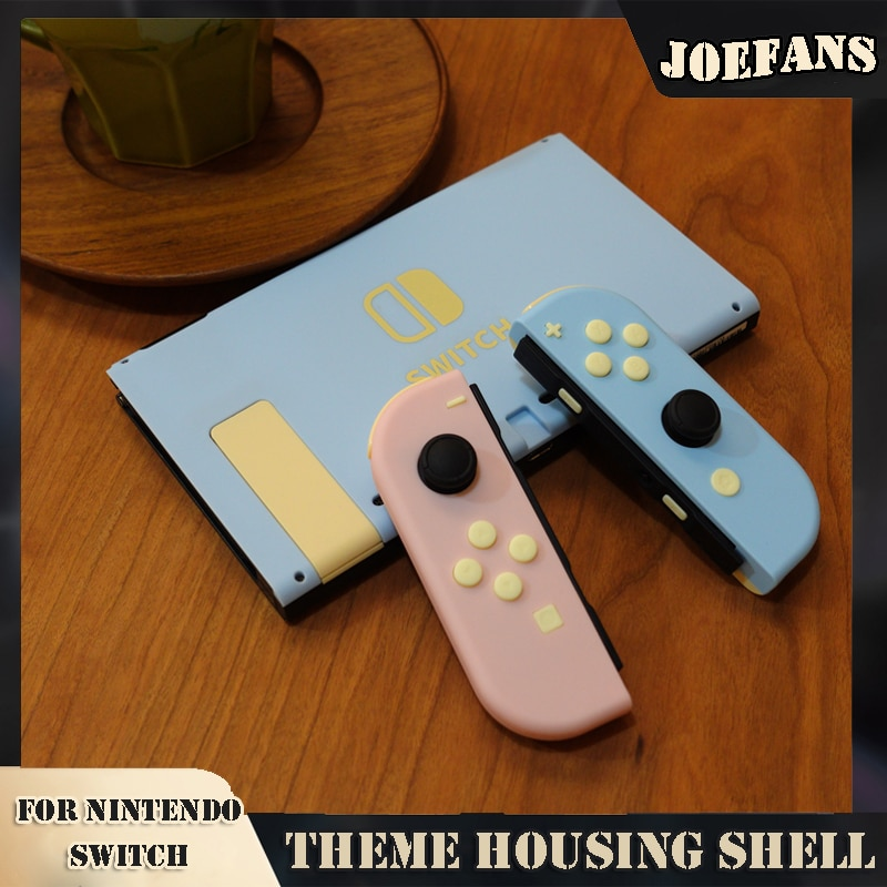 ns travel carrying case 19 game shell card holders pouch bag for nintend switch console and accessories joycon case thumb grips For Nintendos Switch Console Replacement DIY JoyCon Housing Shell Cover NS Switch Back Faceplate Case Housing Game Accessories