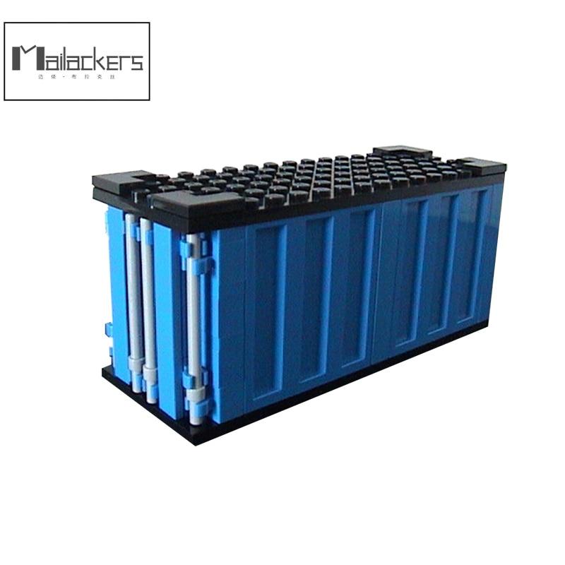 Moc tijolos técnica 20ft auto caminhão recipiente caixa diecast modell blocos de construção buildmoc Moc-20665 tijolos brinquedos para o presente das crianças