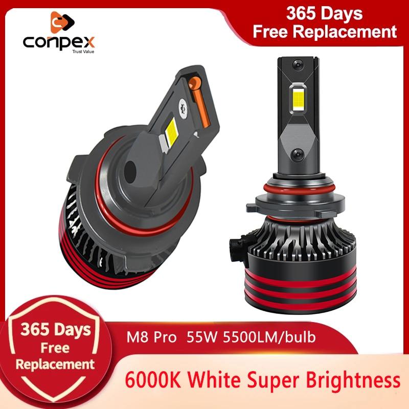 Conpex M8 Pro HB3 9005 HB4 9006 Led Canbus No Error Lamps 12V H8 H9 H11 Headlight Bulbs 11000LM H13 H16 9012 H1 H4 H7 Car Light