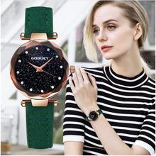 New Fashion Gogoey Brand Rose Gold Leather Watches Women ladies casual dress quartz wristwatch reloj