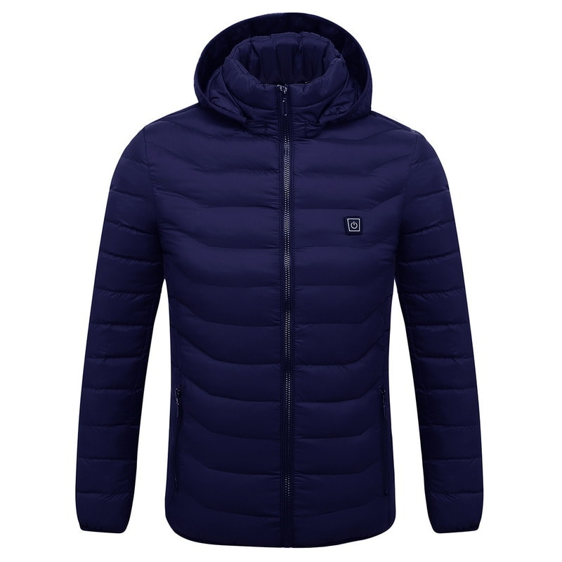 Mens Women Heated Outdoor Parka Coat USB Electric Battery Heating Hooded Jackets...