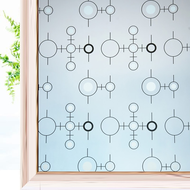 3D Matte Frosted Window FIlm Stained Glass Decorative UV Sticker Privacy Self Adhesive Film Vinyl Decals for Windows