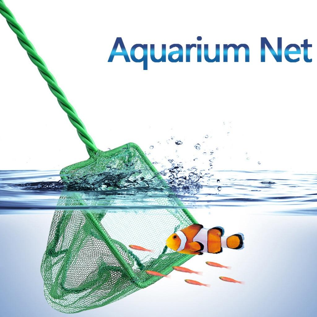Portable Long Handle Square Aquarium Fish Tank Fishing Net Fishing Net For Small Fish Landing Net Fish Tank Cleaning Net #10