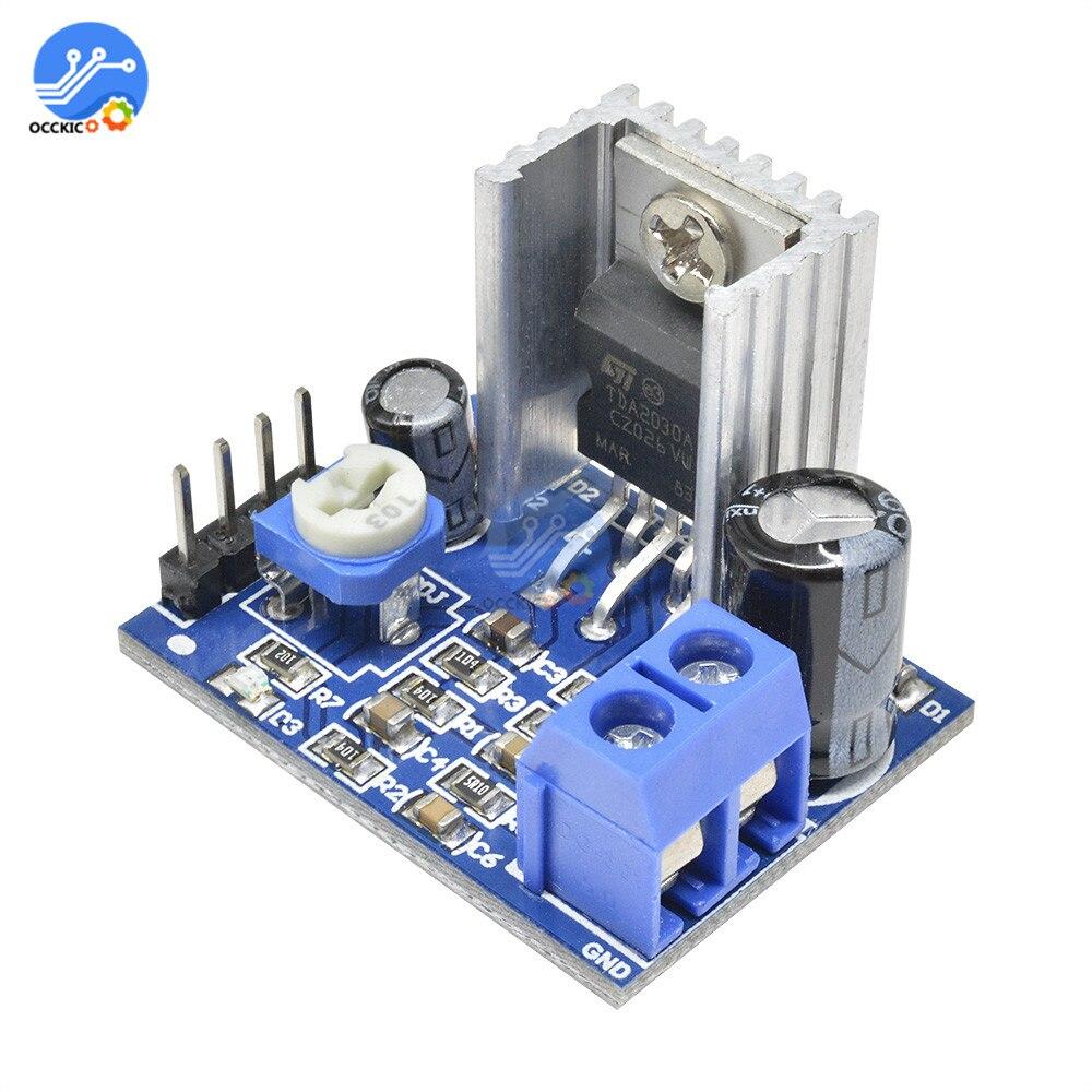 Placa amplificadora TDA2030, módulo reproductor, fuente de alimentación de altavoz, placa amplificadora de Audio de 6-12V, mono placa amplificadora profesional