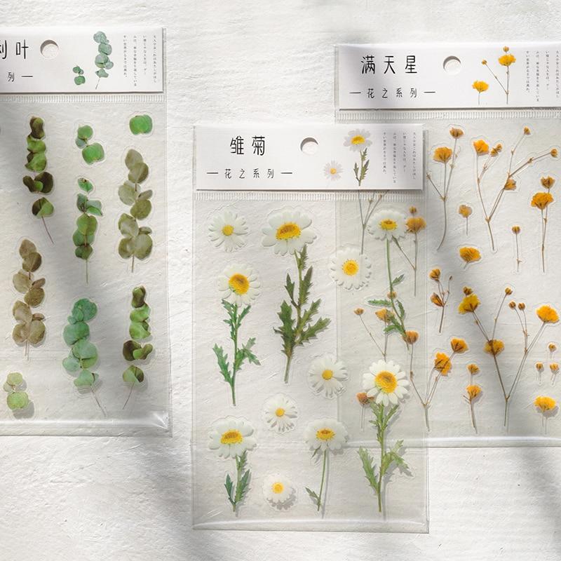 yoofun-daisy-clover-babysbreath-felce-pet-trasparente-adesivi-fiori-foglie-di-piante-adesivo-per-scrapbooking-proiettile-ufficiale-deco